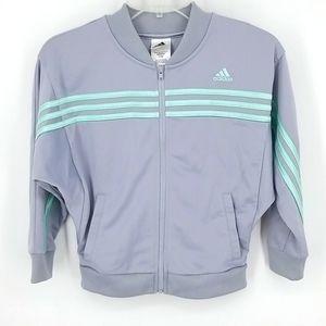 Adidas Girls' 3-Stripes Tricot Zip-up Jacket